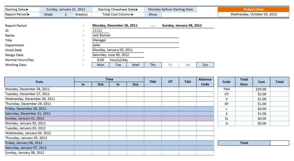 Property Management Spreadsheet and 12 Employee Tracking Templates Excel Pdf formats