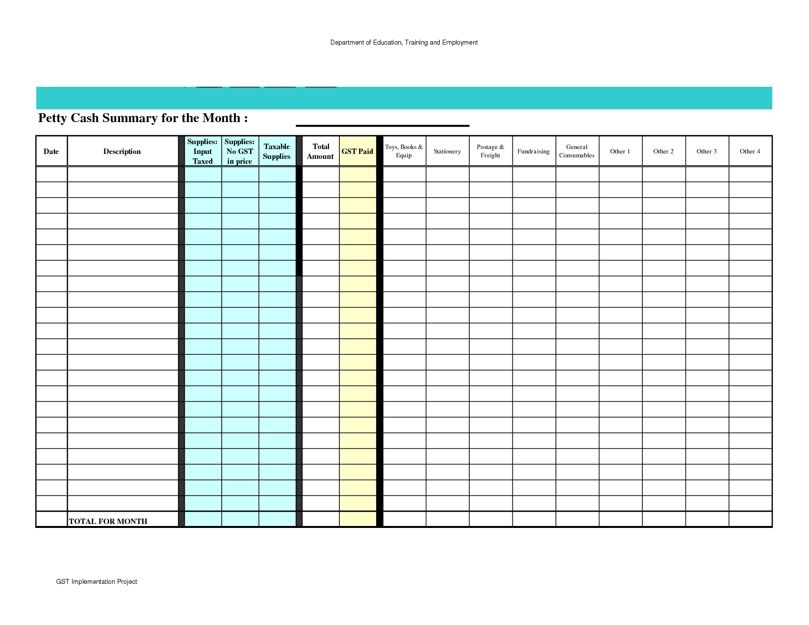 Proposal Tracking Spreadsheet and Petty Cash Spreadsheet Template Excel Accounting Petty Cash