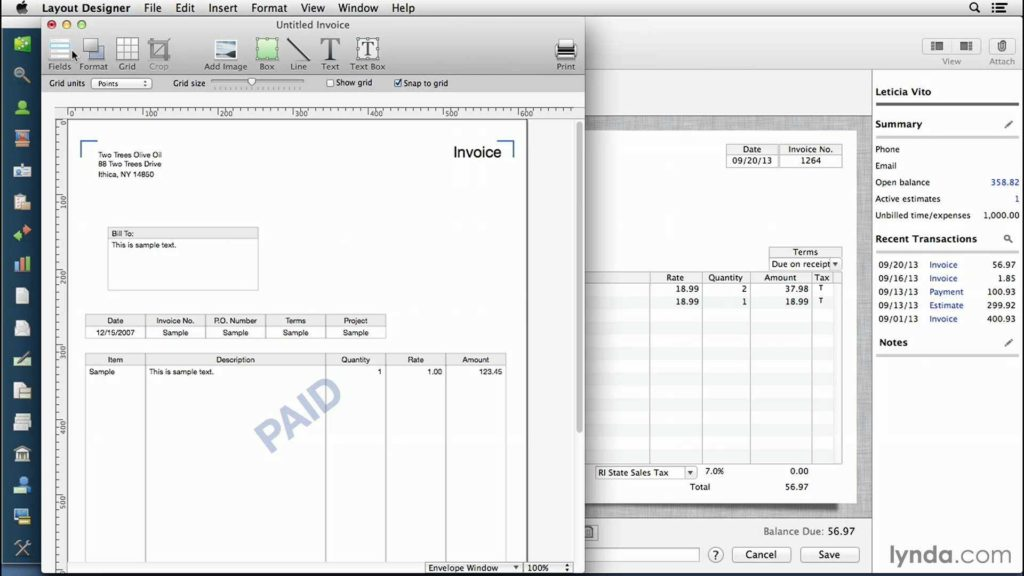 Quicken Invoice Templates and Quickbooks for Mac Tutorial Customizing Invoices and forms