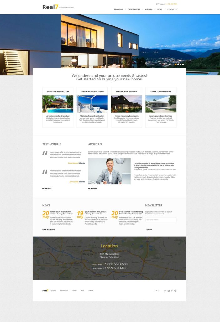 Real Estate Market Report Template and Real Estate themes Templatemonster