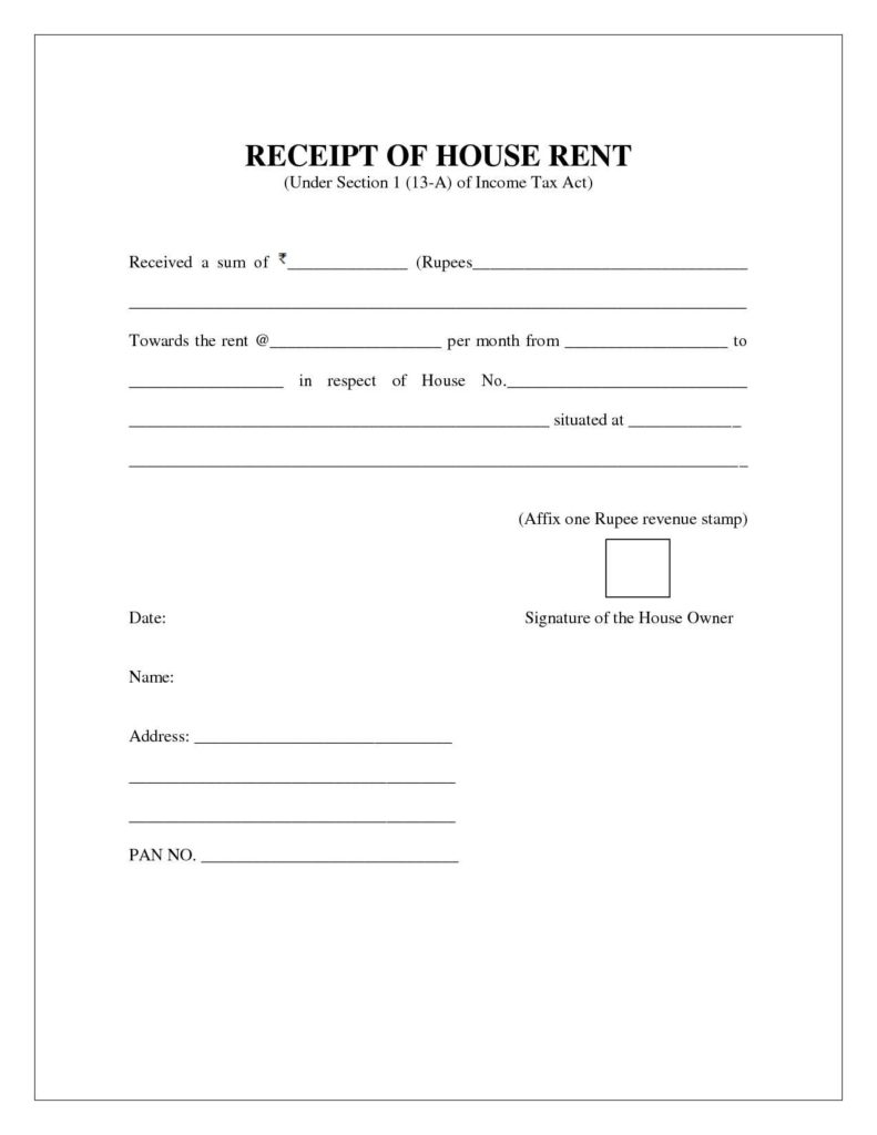 Rent Bill Template and Cash Invoice Template Doc Residers Firmsinjafo