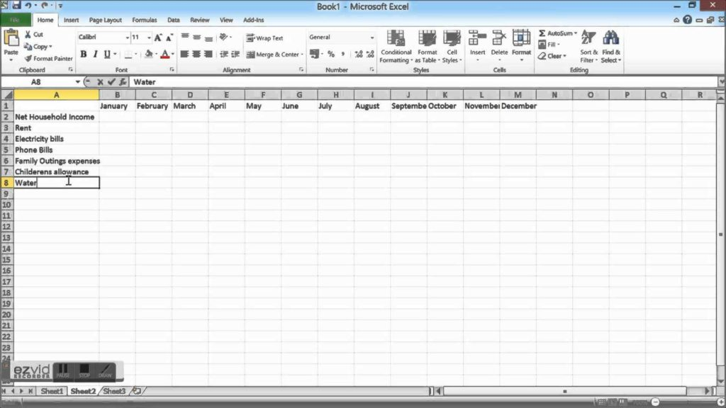Rental Expense Spreadsheet and Household Bud Spreadshet How to Create A Household Bud