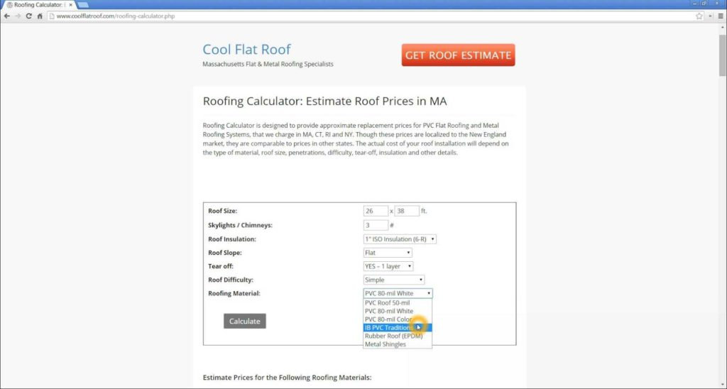 Roofing Estimate Template and Roofing Calculator Estimate Roofing Prices Online by