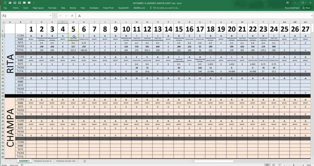 Safety Tracking Spreadsheet and Employee Daily Production Tracking tool Youtube