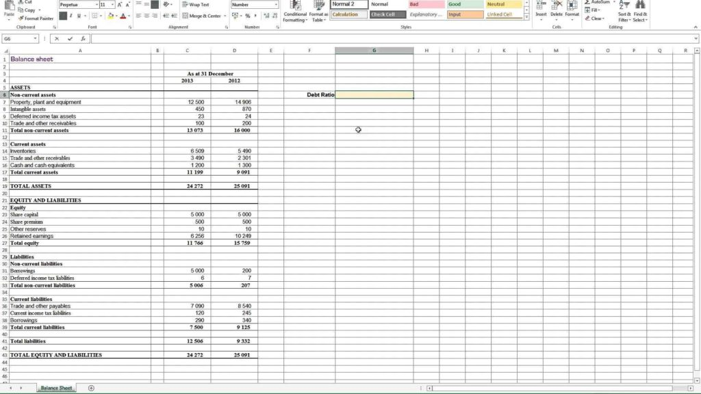 Sample Financial Analysis Report Excel and Calculating Debt Ratio In Excel Youtube