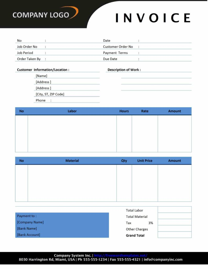 Sample Of Billing Invoice and Invoice Freewordtemplates