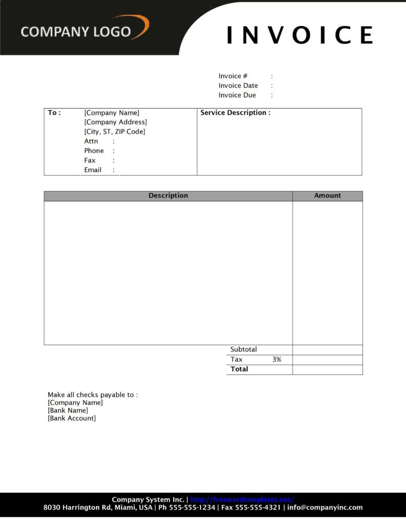 Sample Of Invoice for Professional Services and Consultant Invoice Freewordtemplates