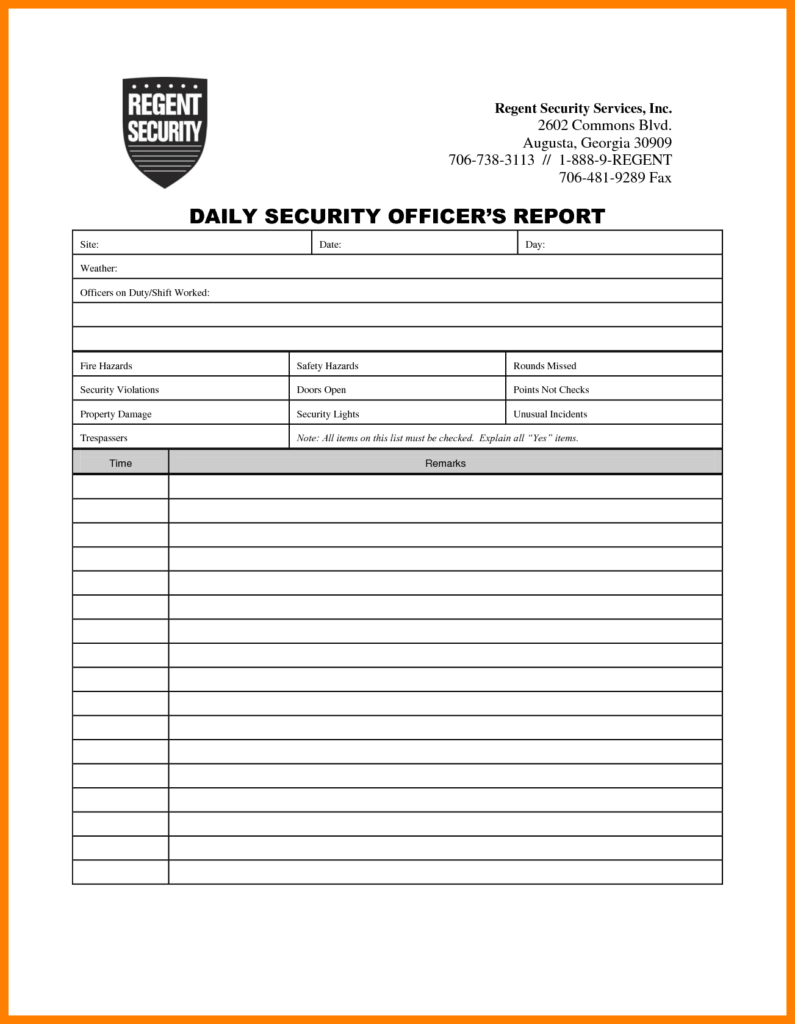 Samples Of Incident Report and 7 Security Incident Report format Packaging Clerks