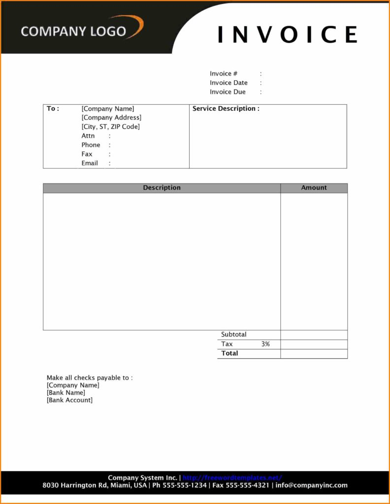 Samples Of Invoices for Services and Invoice format Doc Rabitah