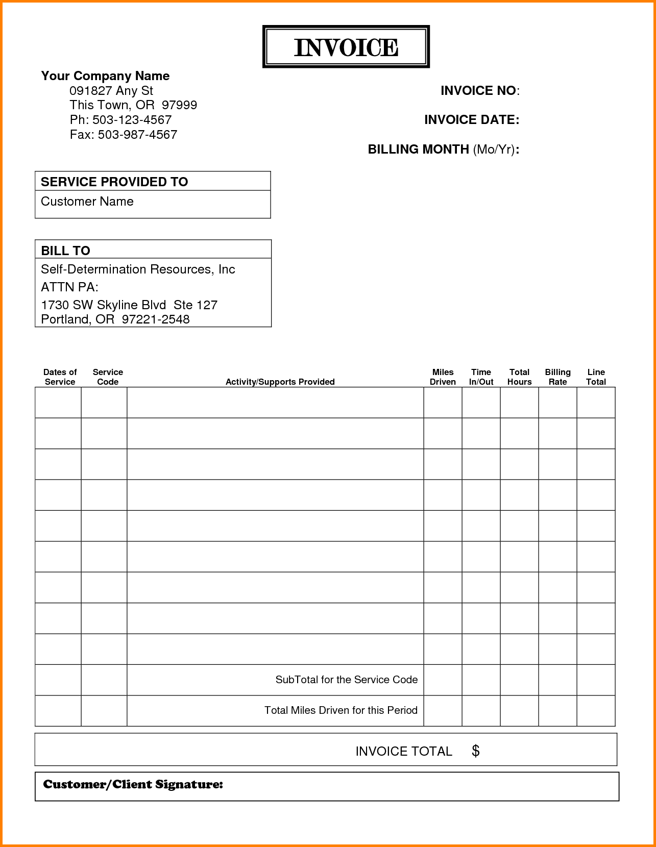 Samples Of Invoices Free and 8 format for Billing Invoices Simple Bill