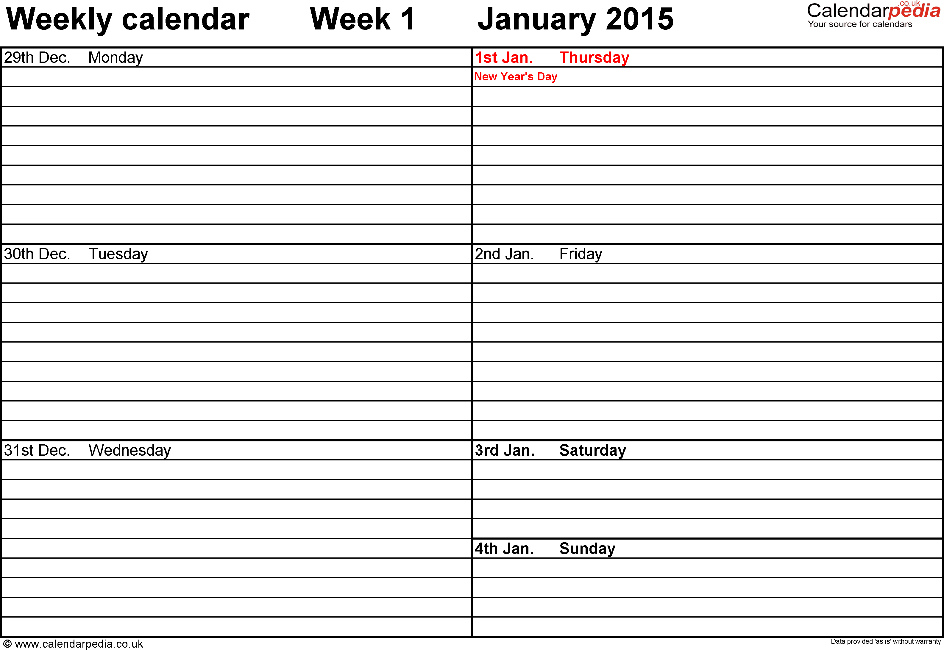 Schedule Worksheet Templates and Weekly Calendar Pdf Weekly Calendar Template