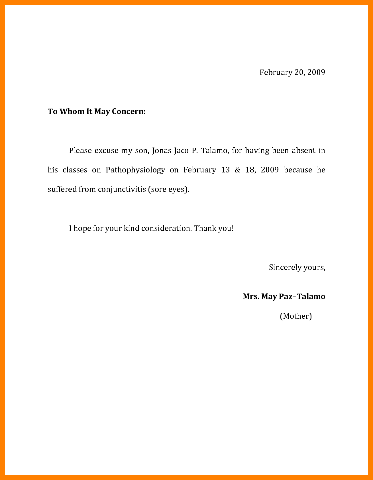 Sick Sheet Sample and 3 Excuse Letter for Sick Resume Sections