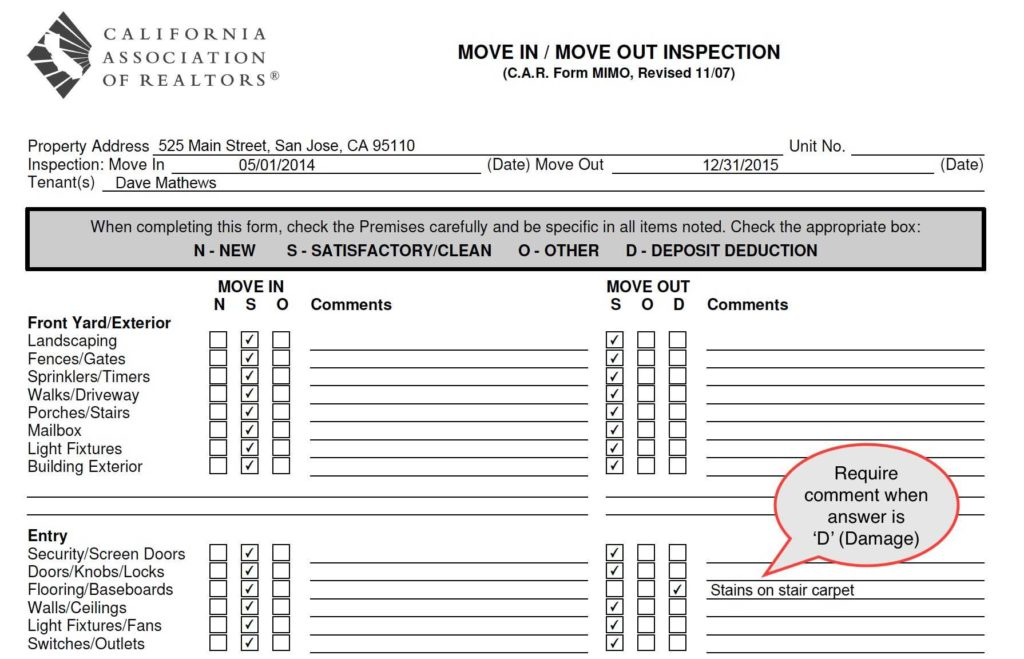 Site Inspection Report Sample and Ezinspections Sample Inspection forms Inspection Checklists and
