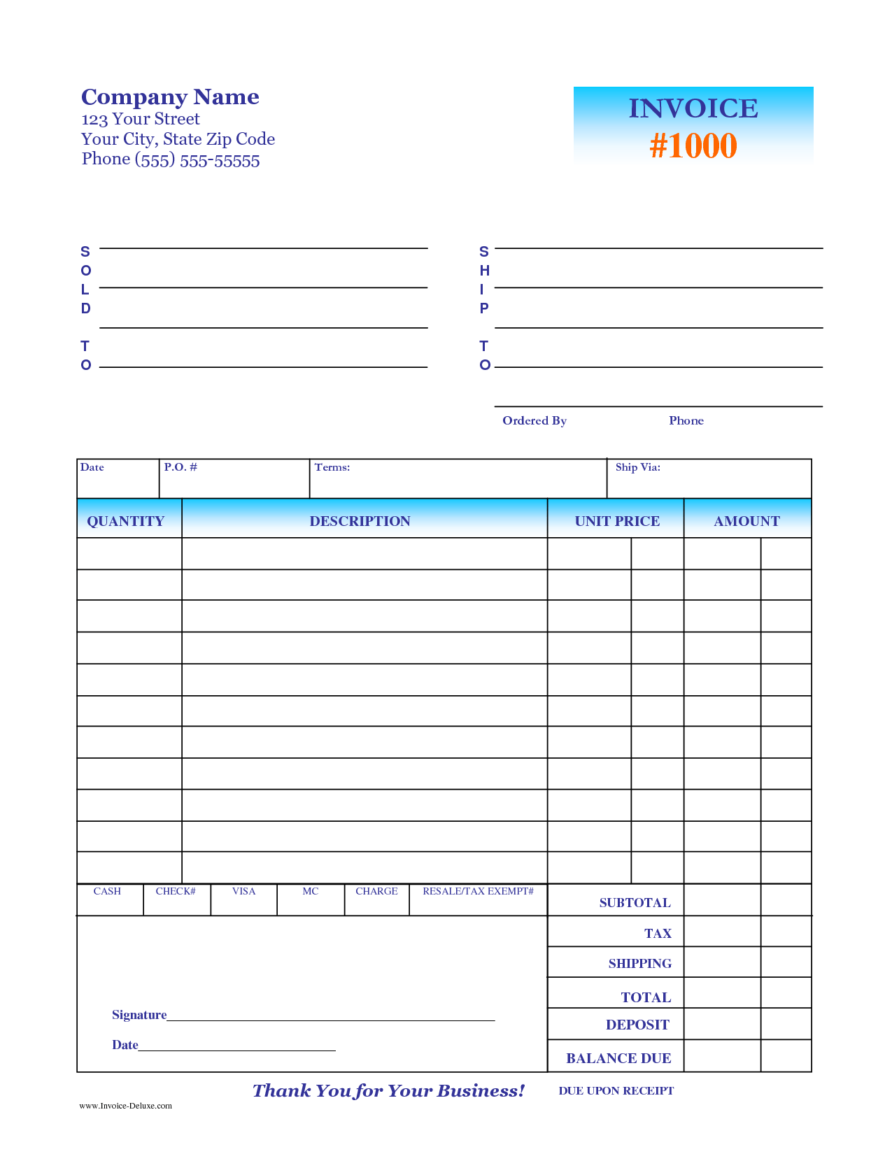 Snow Removal Invoice Template and Deposit Invoice Template Invoice Example