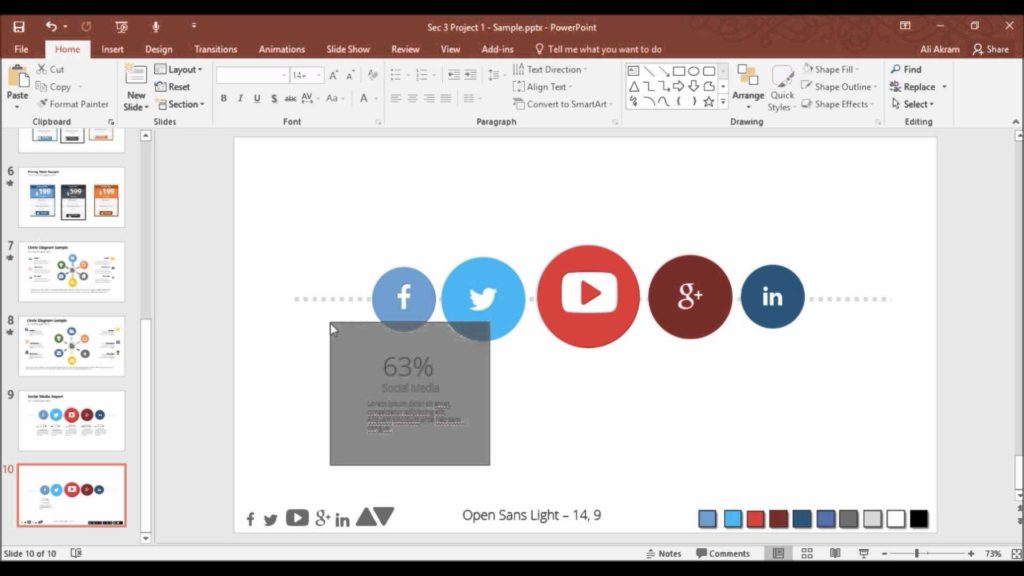 Social Media Report Sample and Making social Media Report On Powerpoint Youtube