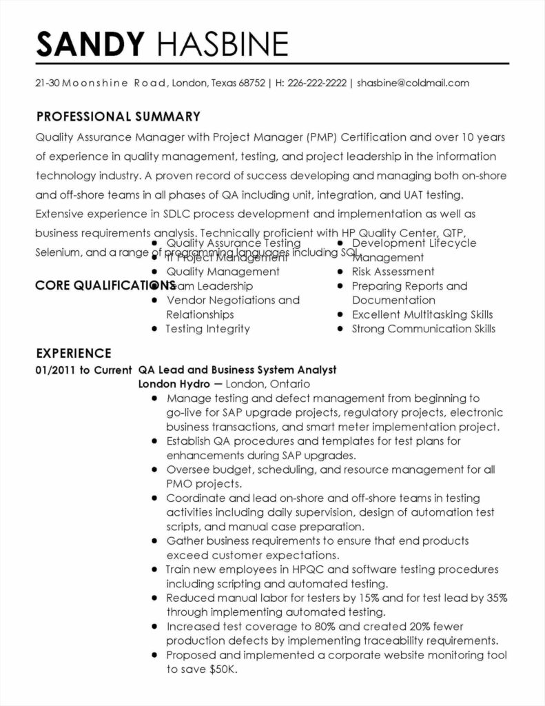 Software Quality assurance Report Template and software Resume Sample software Quality assurance Plan Template