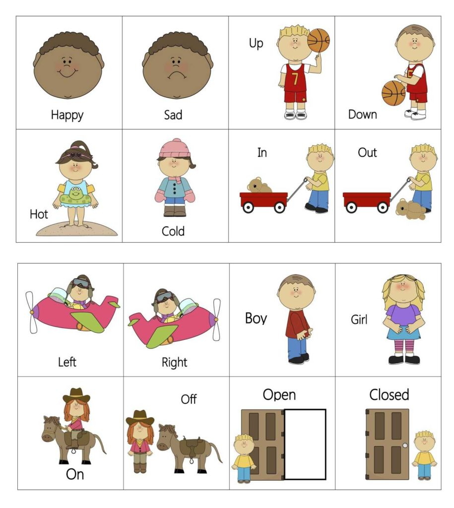 Speech therapy Worksheets for Preschoolers and Opposites Teacher Stuff Pinterest Language Activities and