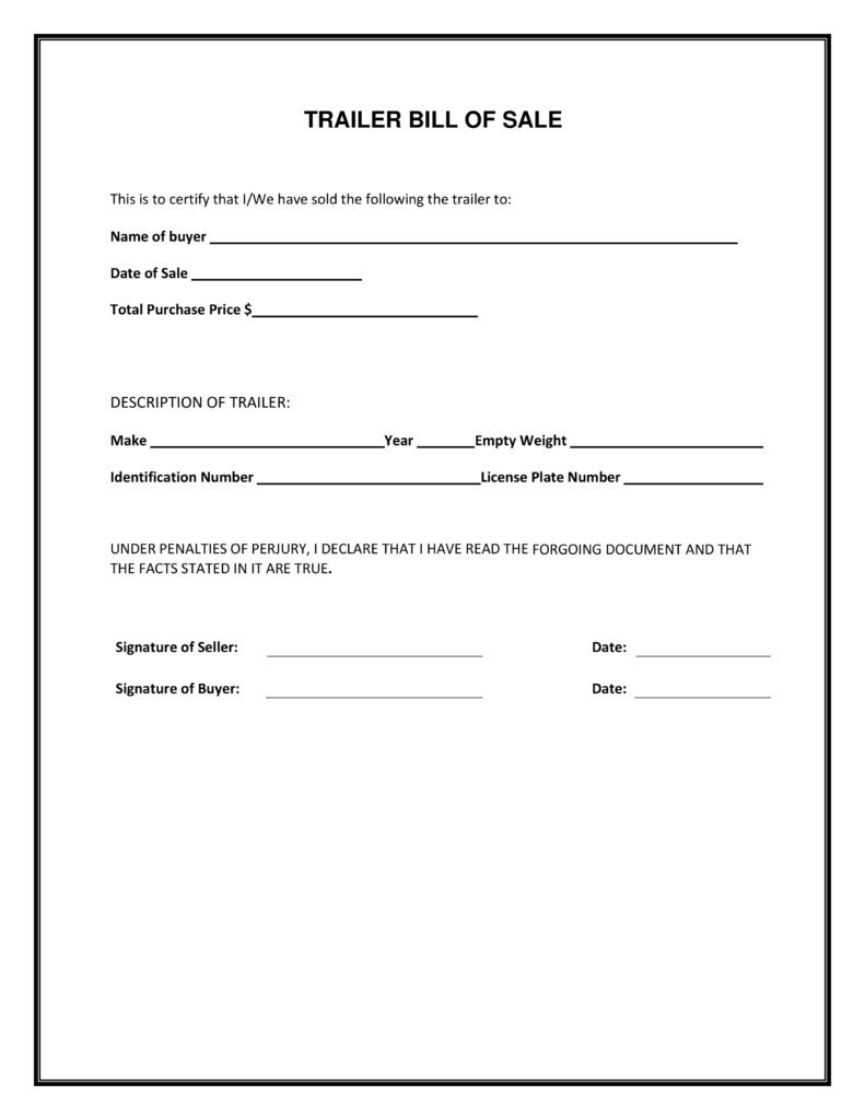 Standard Bill Of Sale Template and Blank Simple Printable Bill Of Sale form Template Pdf Firearm
