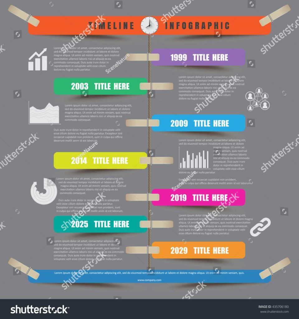 Stock Report Template Excel and Design Template Timeline Infographic Report Template Stock Vector