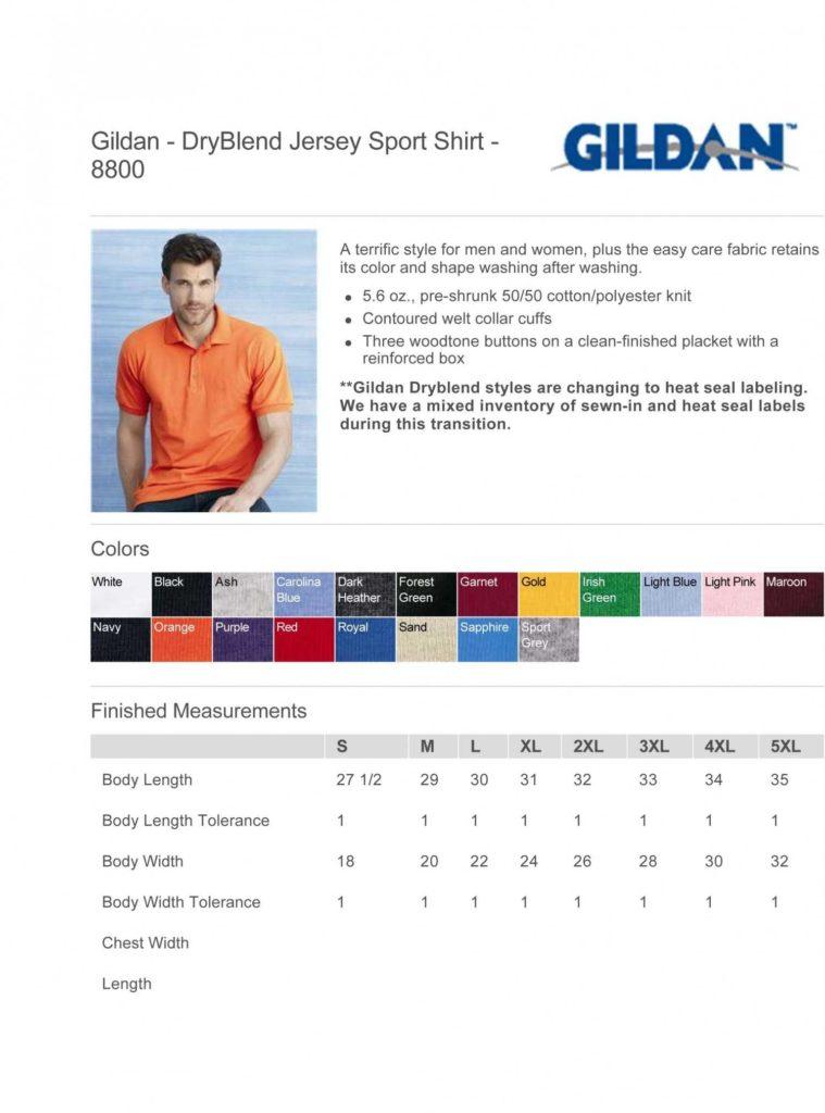 T Shirt Inventory Spreadsheet and Gildan Dryblend 50 50 T Shirt 8000