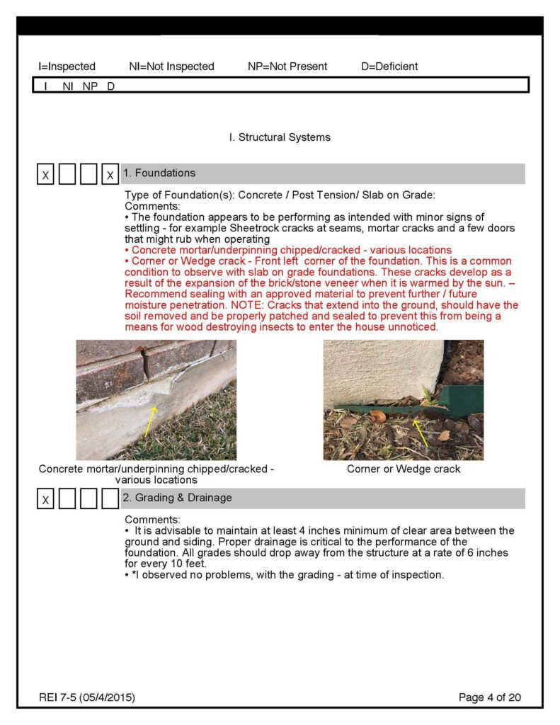 Termite Inspection Report Sample and Pre Sale Inspection Sample Report Inspect It