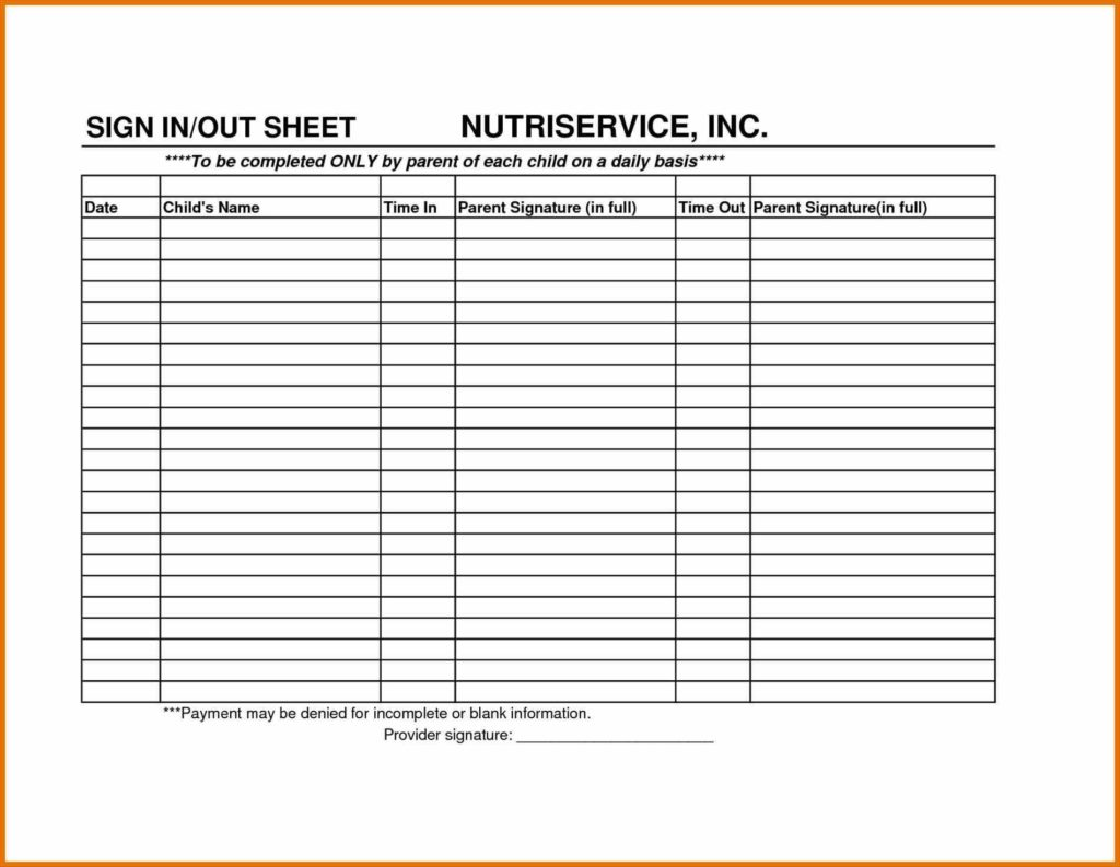 Times Sheet Template and Sign Parent Sign In Sheet Template Up Sheet Template by