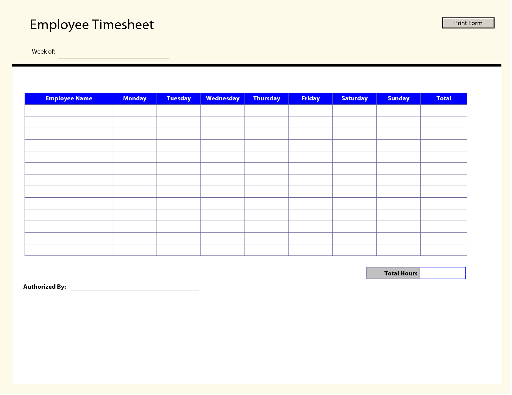 Timesheet Invoice Template Free and Blank Employee Timesheet Template Management Templates