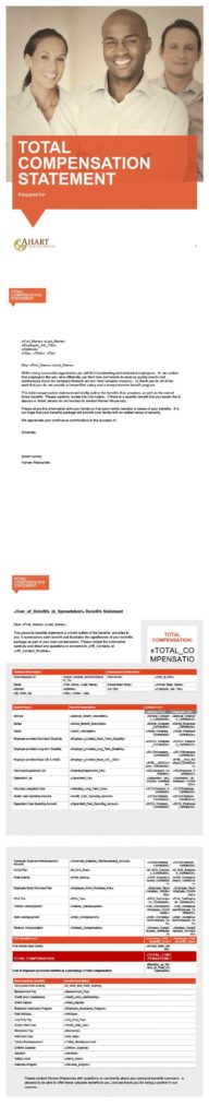 Total Compensation Statement Template and Ahart Insurance Services Resources