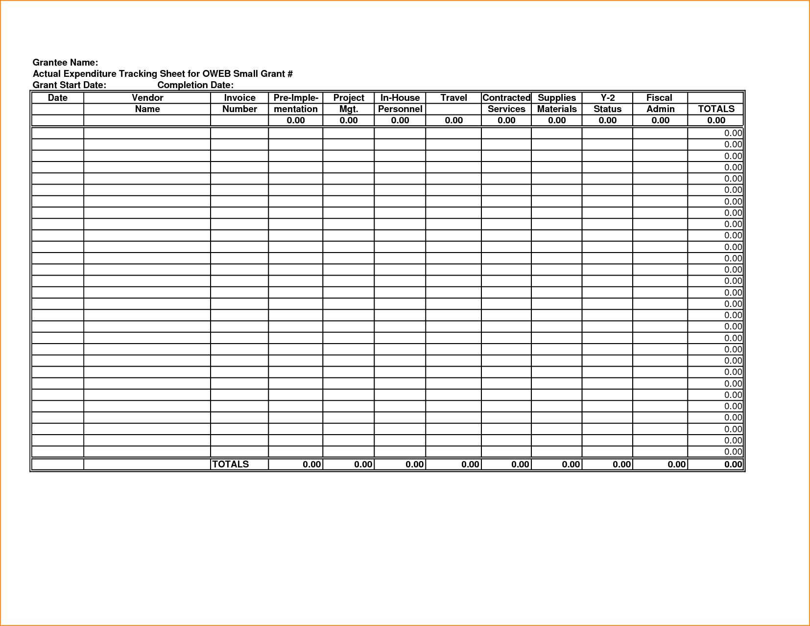 Tracking Spending Spreadsheet and Tracking Spending Spreadsheet Laobingkaisuo
