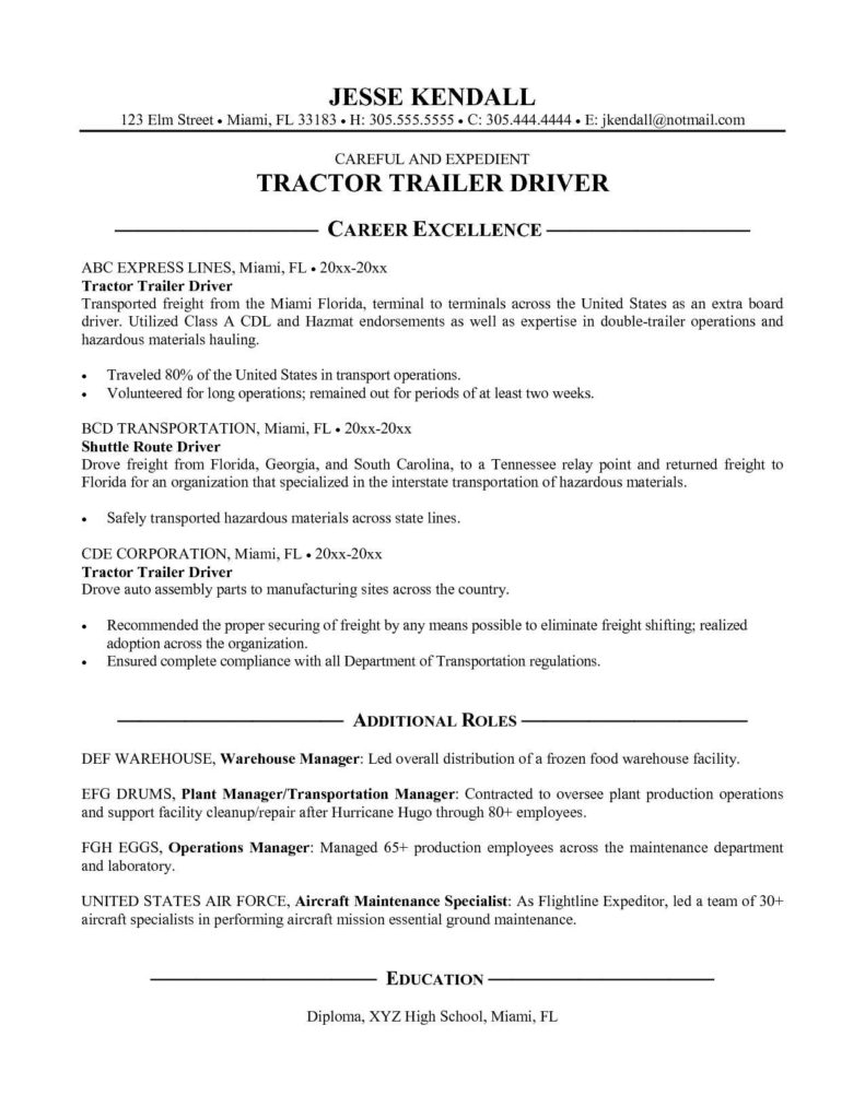 Trucking Invoice Sample and tow Dispatcher Resume Sample Chauffeurdriverresumesample