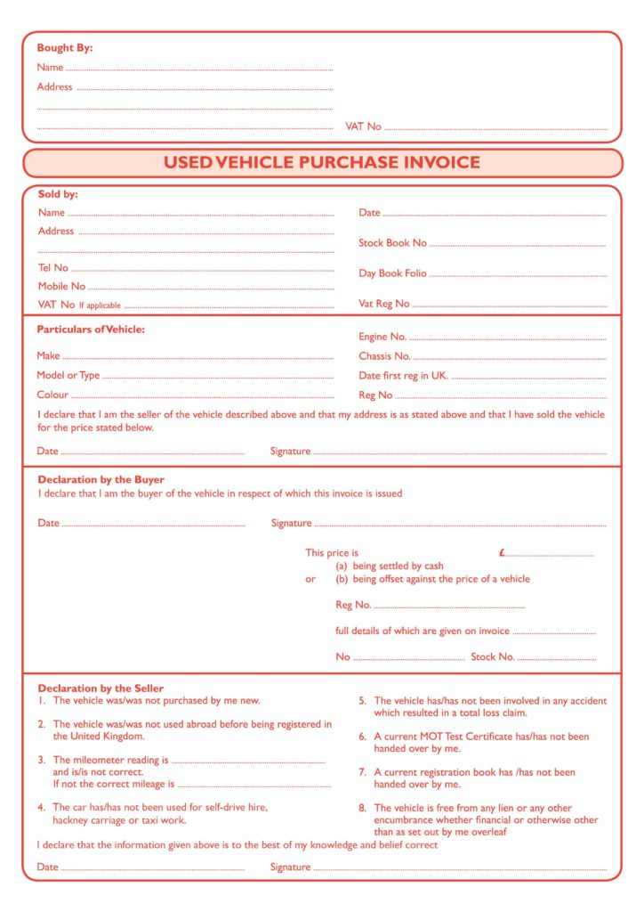 Used Car Dealer Bill Of Sale Template and Used Car Invoice Template Rabitah