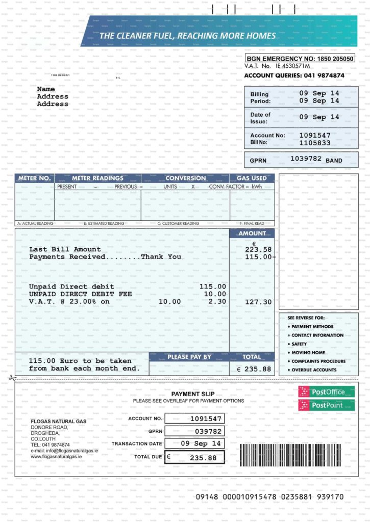 Utility Bill Template and Fake Utility Bill Template Best Business Plan Template