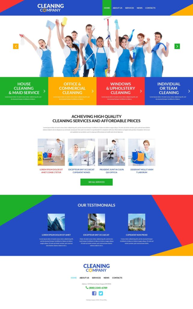 Window Estimate Template and Website Template Cleaning Pany Services Custom Website