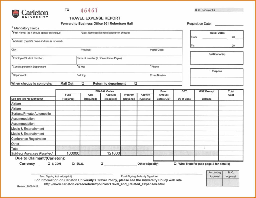 Yearly Expense Report Template and 8 Expense Report Sample Resume Reference