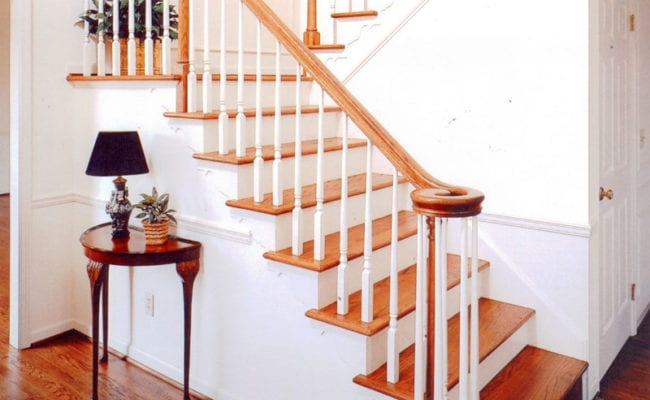 Stairs Stair Parts Attic Stairs Tague Lumber | Pre Built Wood Stairs | Exterior | Landing | Free Standing | Lvl | Basement