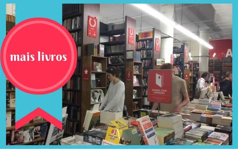Livraria Strand, em NY, por dentro