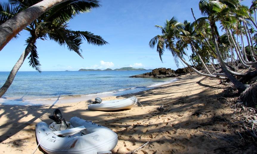 Beach at Cobia in Fiji
