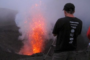 Close view of volcano