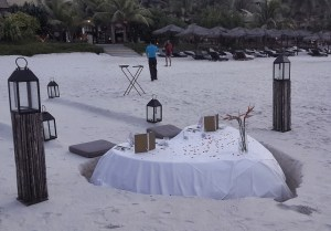 Heart table of sand