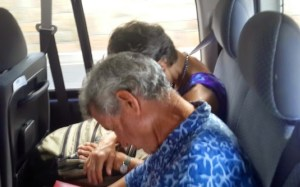 Sleeping on the bus back