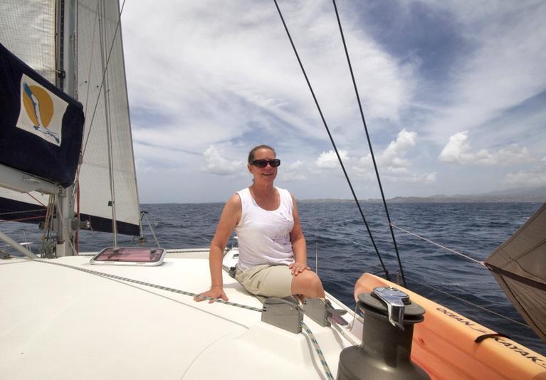 Karen arriving at Grenada