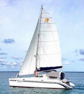Tahina Under Sail