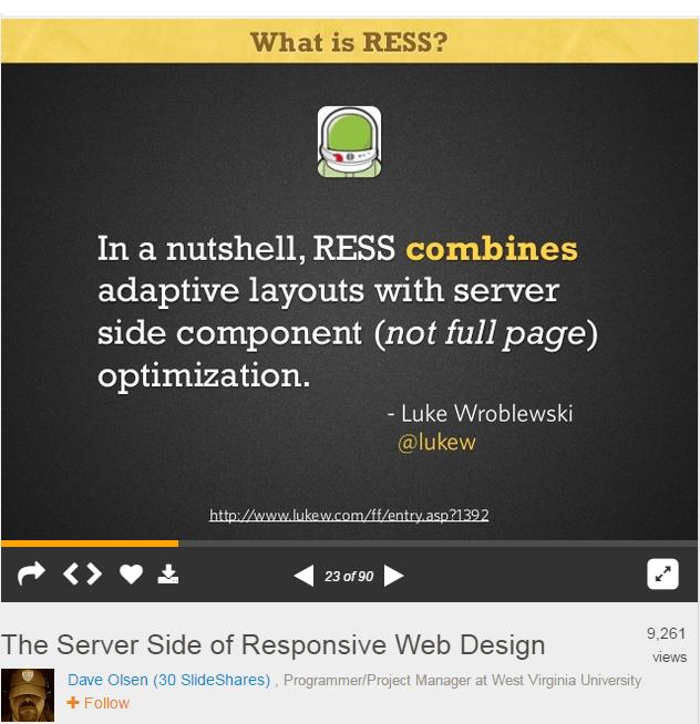 RESS: Responsive Design + Server Side Components