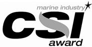 Marine Industry CSI award logo.