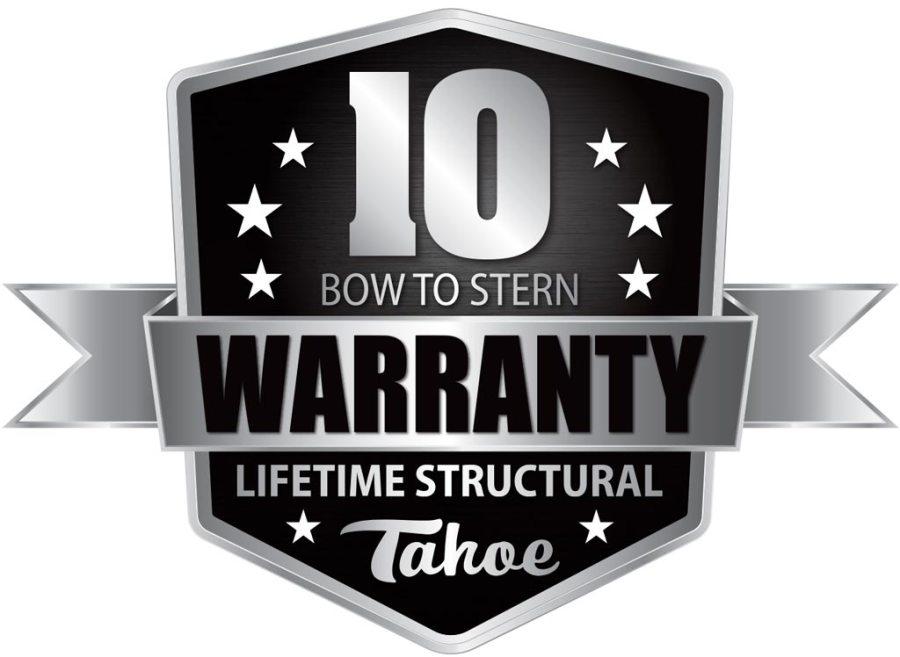 10 year warranty emblem.