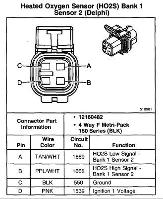 2004 chevy silverado o2 sensor wiring diagram  wiring