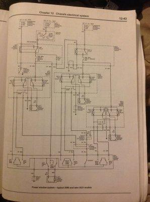 Driver's doormaster window switch wiring diagram | Chevy
