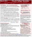 March Tai Chi Newsletter 204