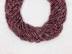 """15.5"""" Faceted Round Ruby Bead Strand – Per String"""