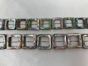 "16"" Doublet Filigree Square Abalone Bead Strand - Per String"